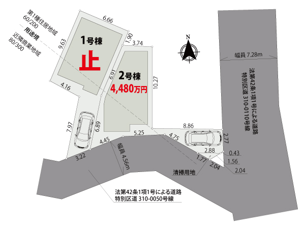【区画図】江戸川区江戸川Ⅰ期【全2棟】