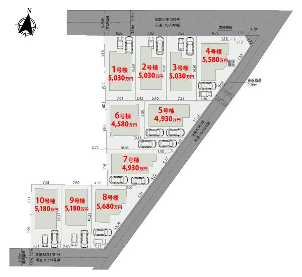 【区画図】さいたま市大宮区寿能町【全10棟】