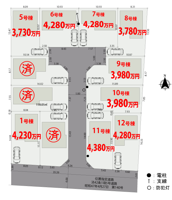 【区画図】東久留米市前沢Ⅱ期【全12棟】