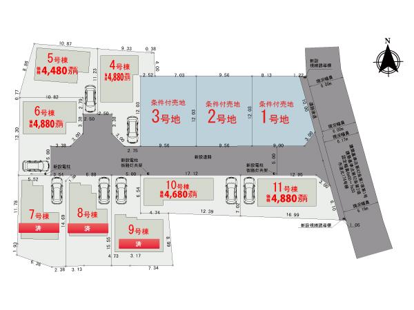 【区画図】調布市深大寺南町Ⅱ期【全8棟】