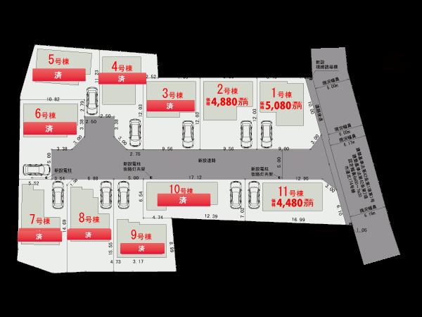 【区画図】調布市深大寺南町Ⅱ期【全11棟】