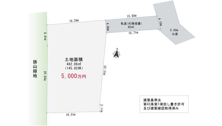 【区画図】東大和市奈良橋 [全1区画]