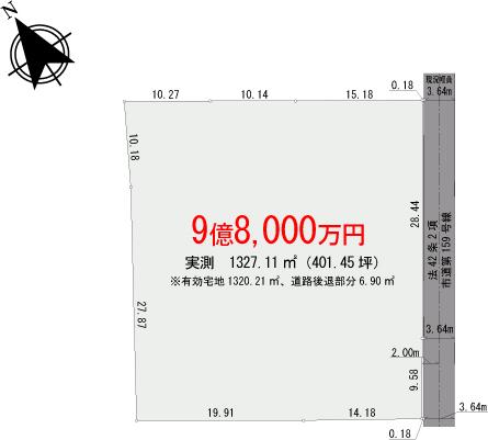 【区画図】三鷹市井の頭【全1区画】